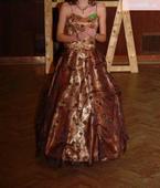 zlato-hnedé šaty, 36