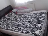 kožená postel 160x200,