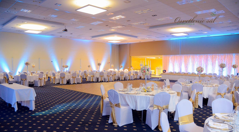 Osvetlenie svadby - Hotel Senec - www.osvetleniesal.sk