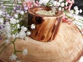 Svadobná drevená krabička na prstienky ,