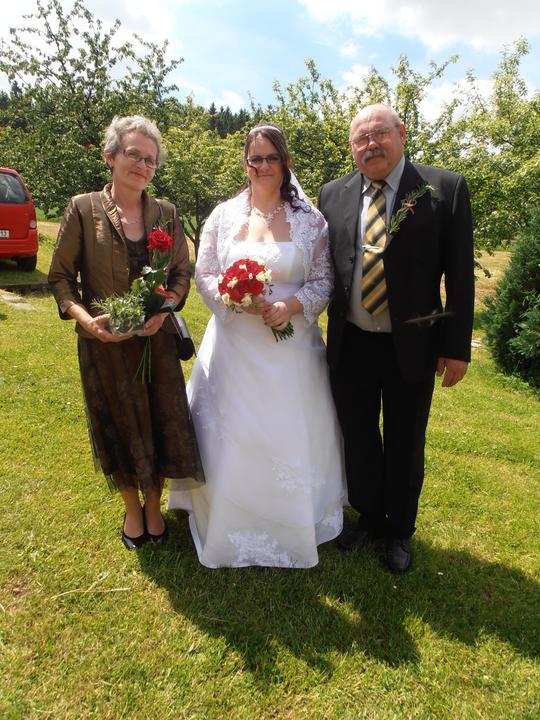 Amaterské fotky z naší svatby :-) - s rodiči