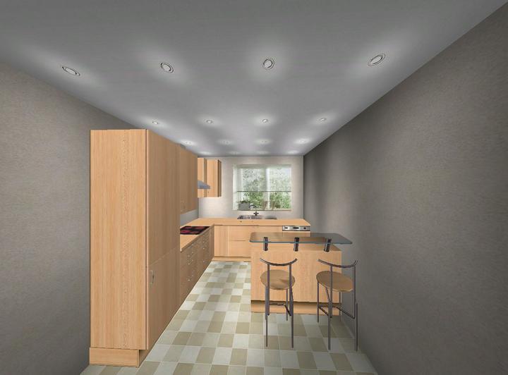 Upravený Bungalow 69 - No, je to len tak na hrubo, ale nejak takto bude kuchyňa.