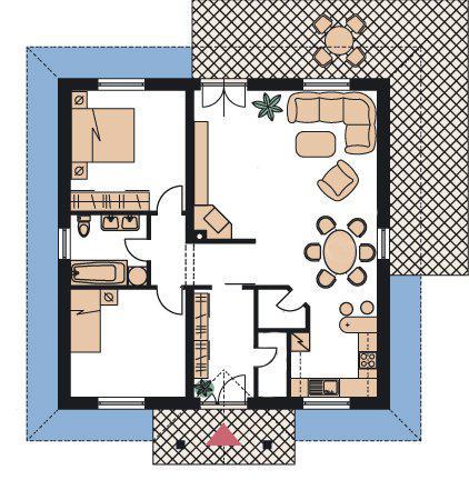 Upravený Bungalow 69 - Dom má 11 x 11 m
