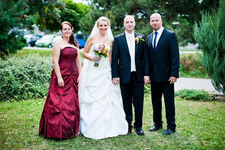 Majka{{_AND_}}Maťko - So svedkami - moja sestra a švagor.