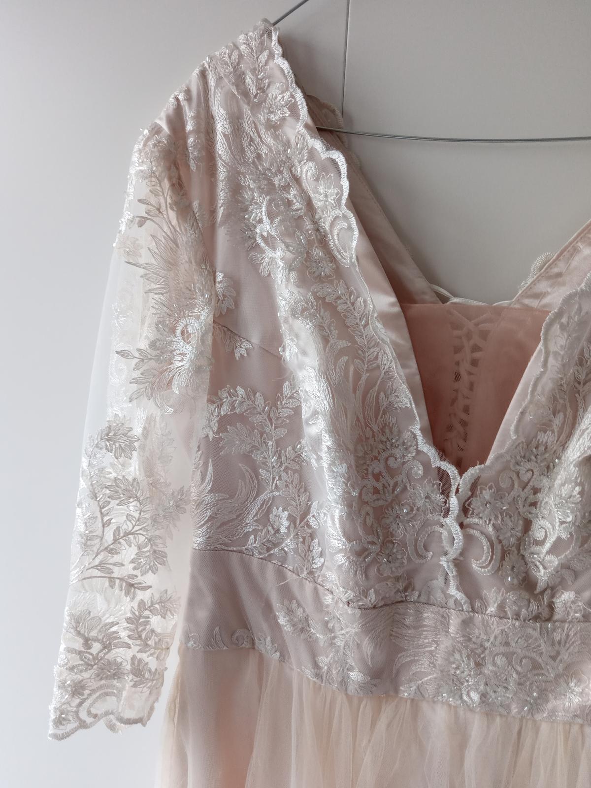 Ivory čipkované šaty - Obrázok č. 4