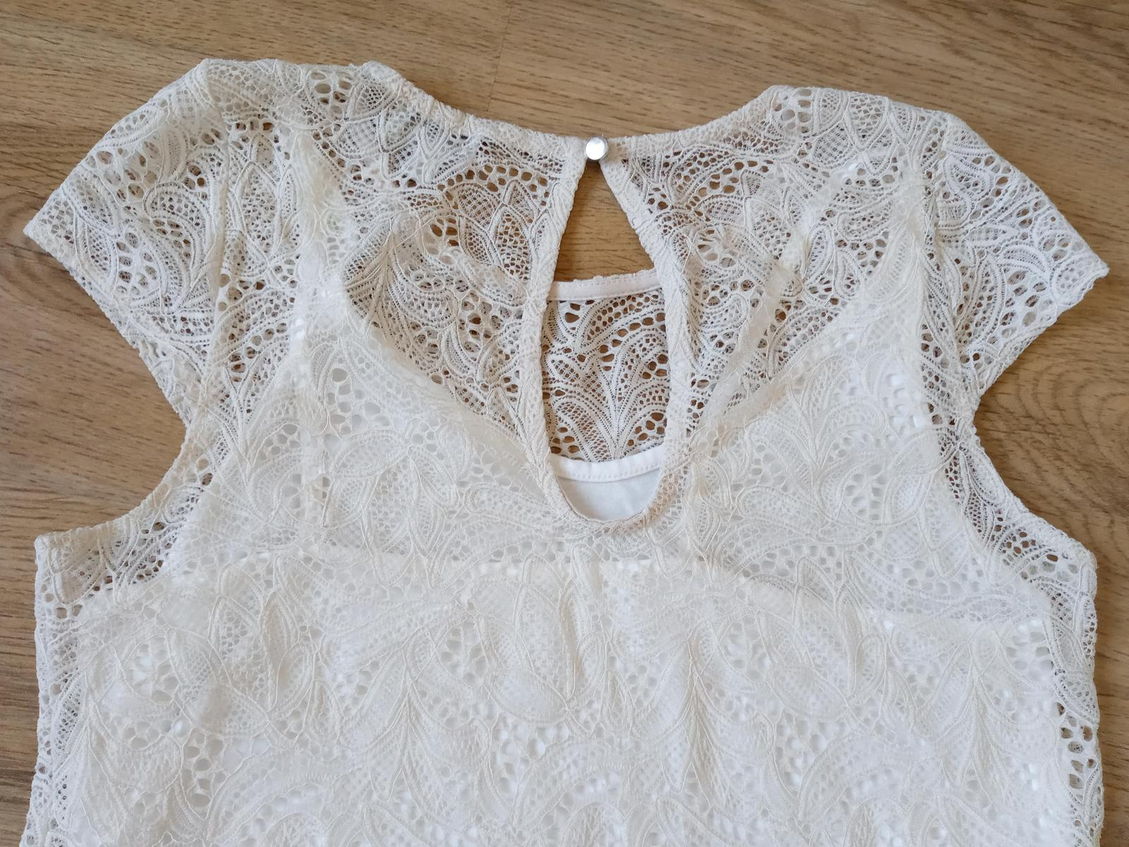 Krémové čipkované šaty - Obrázok č. 4