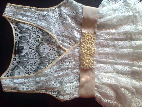 krémový opasok k šatám - Obrázok č. 4