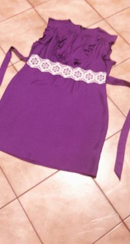 Tehotenské fialové šaty - Obrázok č. 2