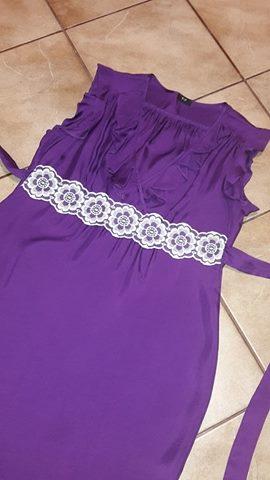 Tehotenské fialové šaty - Obrázok č. 4