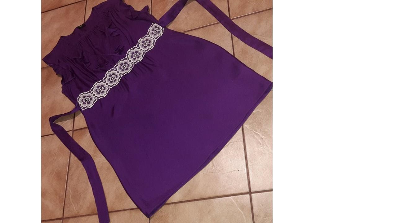 Tehotenské fialové šaty - Obrázok č. 1