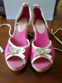 Ružové plátené sandalky F&F, 38