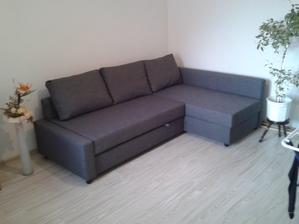 nová sedačka z ikei- alebo posteľ pre hostí