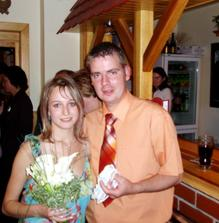 výherci (můj bratr a jeho přítelkyně :o)