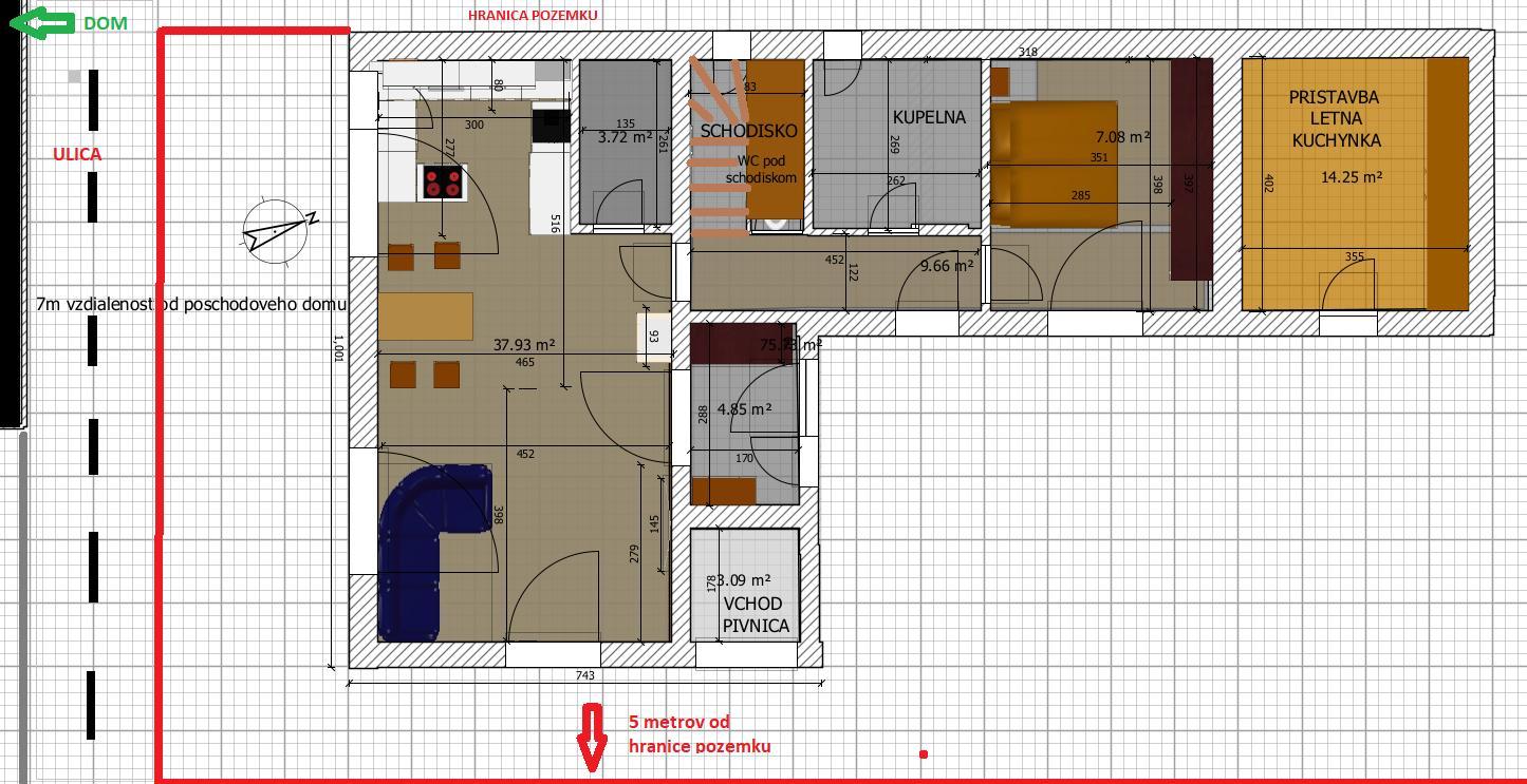 Prerabka stareho RD PROJEKT - Prizemie cca 80m2+ letna kuchynka. Co hovorite na projekt? Napady na upravy?