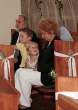 Marekovi rodičia s vnúčatkami