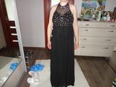 čierne šaty s kamienkami, 40