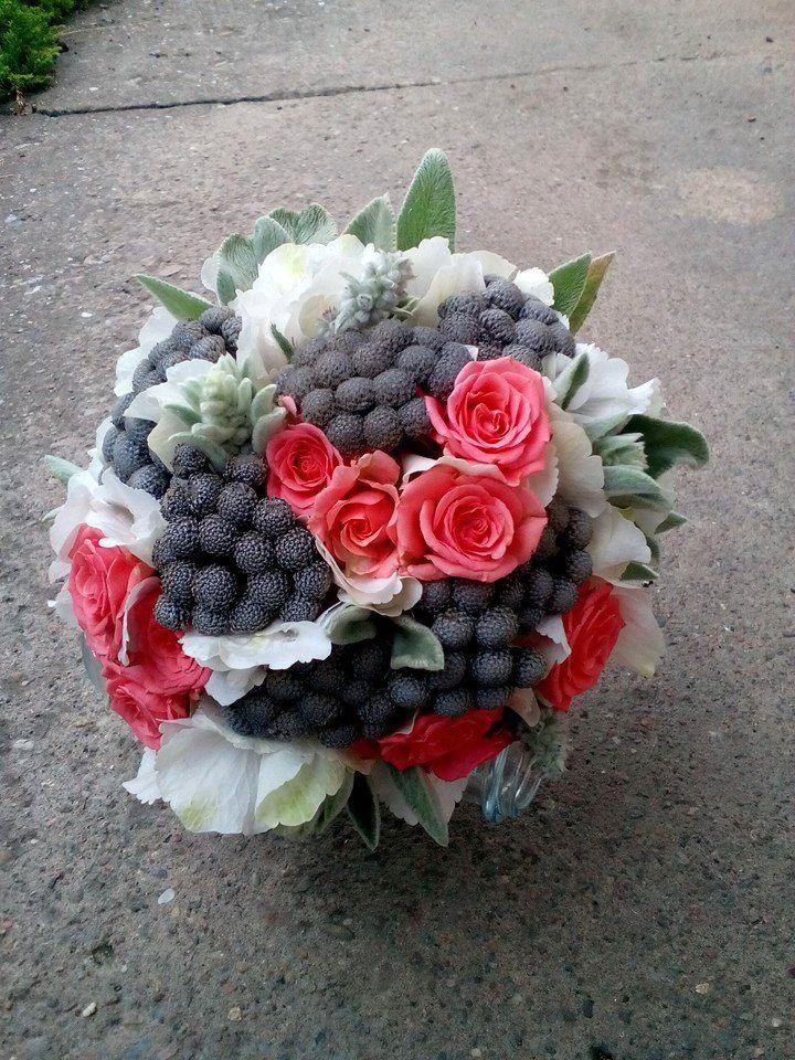 Holubičí šeď - házecí kytice