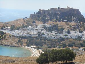 město Lindos a akropole