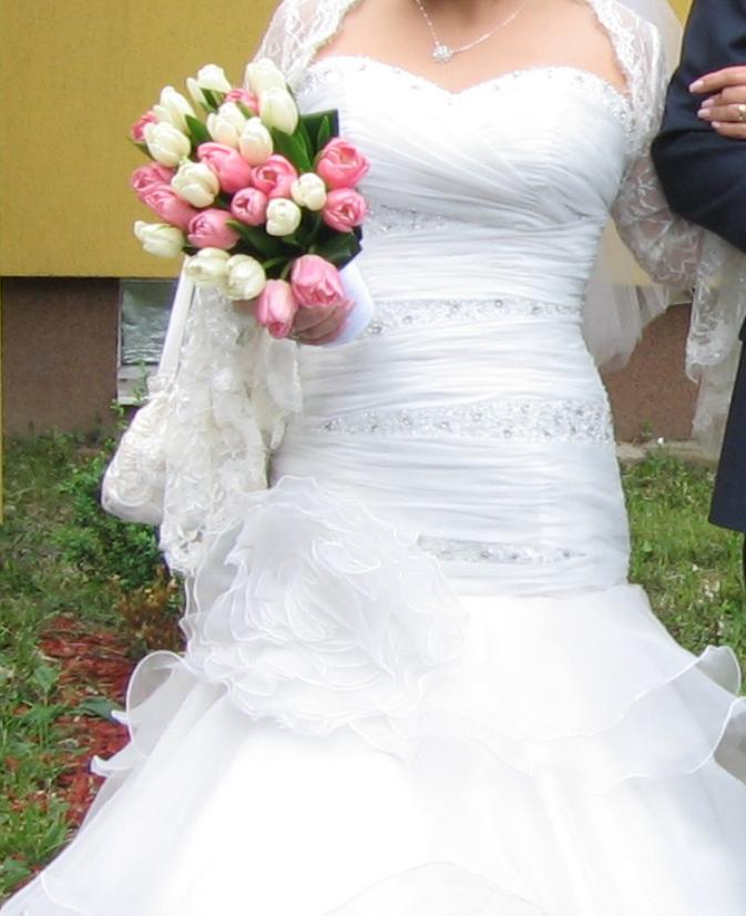 Svatební šaty Mia Solano +Spodnička,bolerko vel.M - Obrázek č. 1