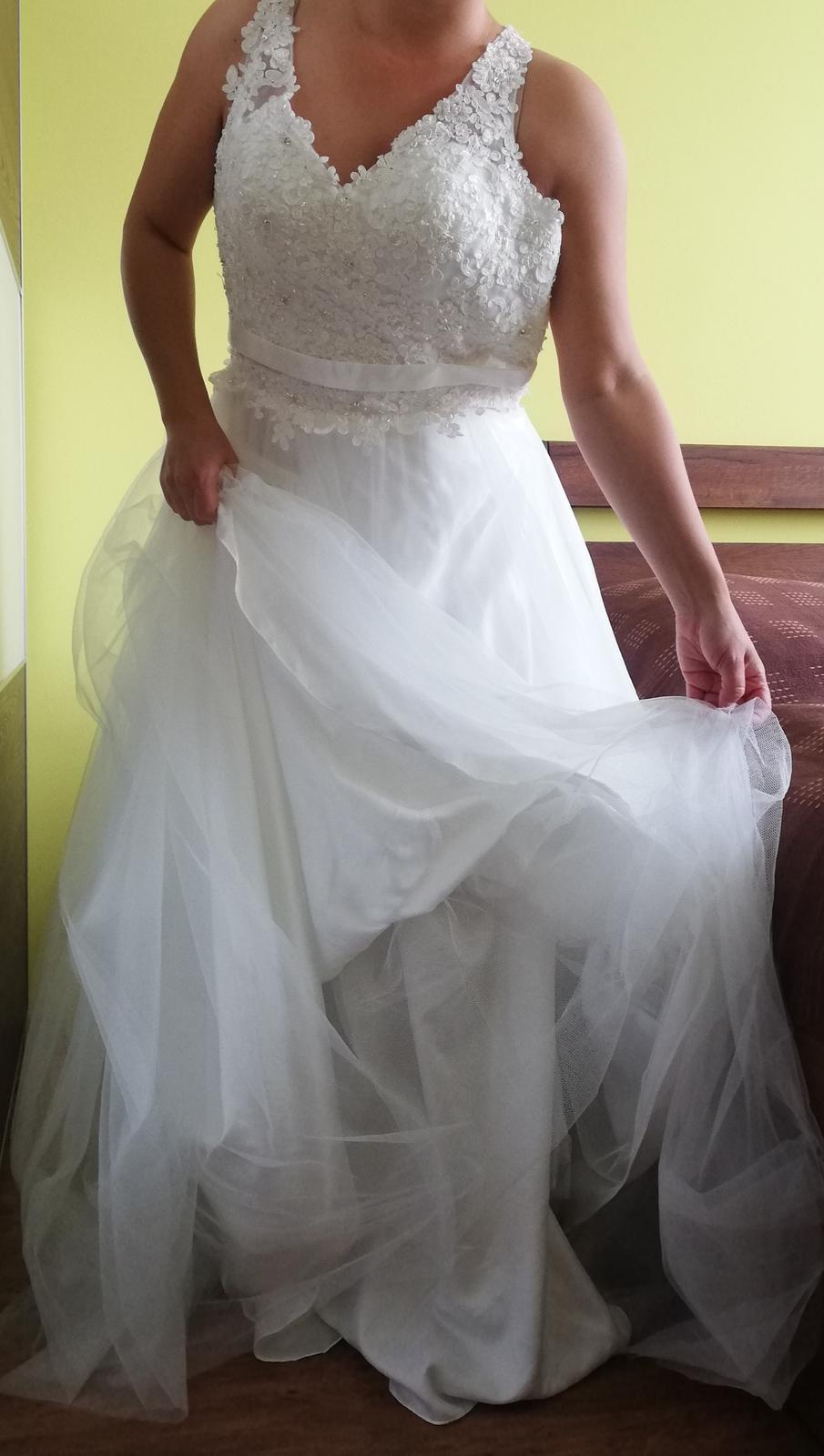 Nové Svatební šaty Luxuar Limited vel. 38 sedne taky vel.36 - Obrázek č. 1