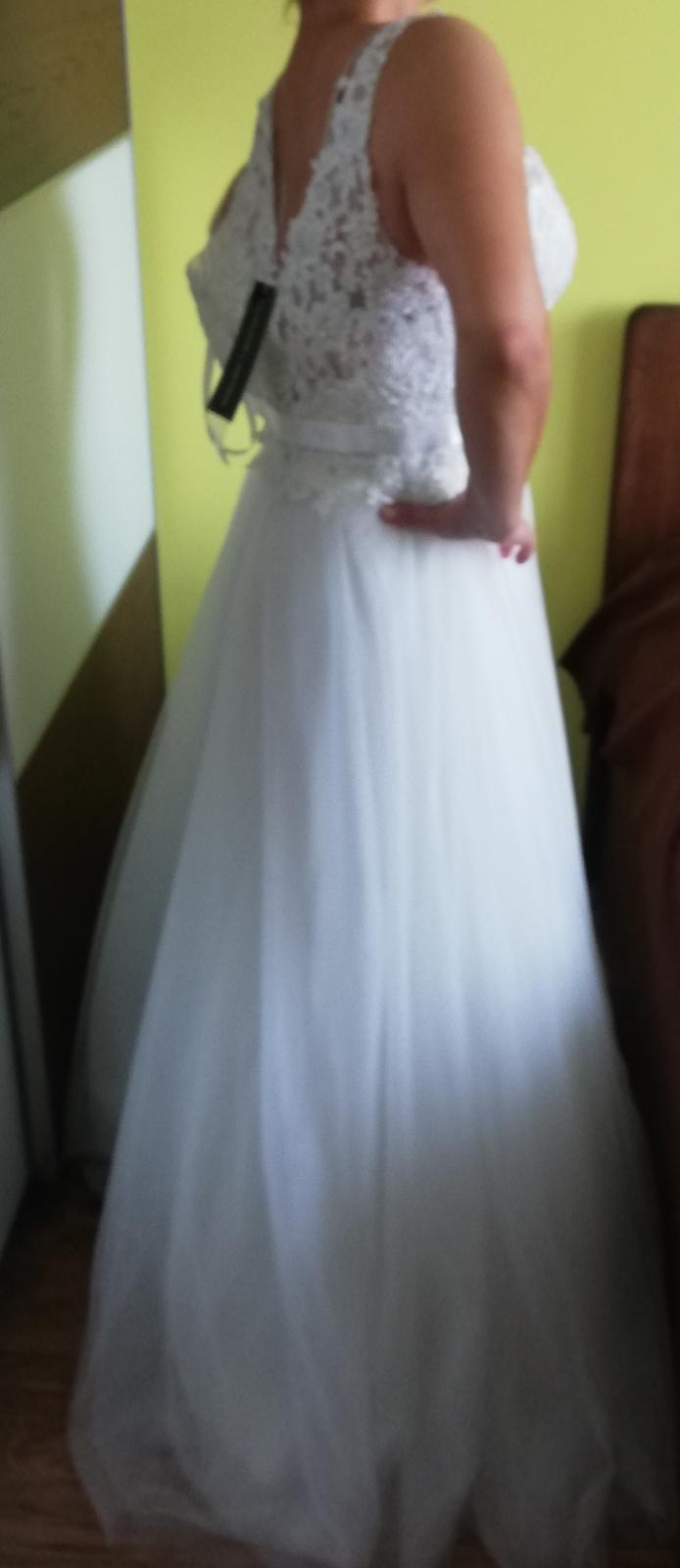 Nové Svatební šaty Luxuar Limited vel. 38 sedne taky vel.36 - Obrázek č. 4