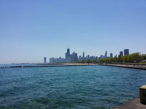 Pohled od Michiganského jezera.