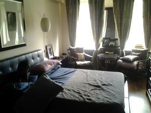 V tomto bytě bydlí pán singl jen se svým psem.