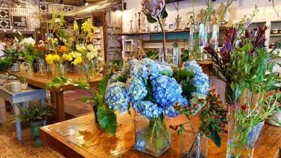 Květinářství v Chicago.