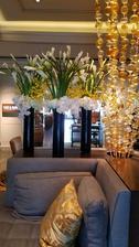 Výzdoba v hotelu Ritz v Los Angels.