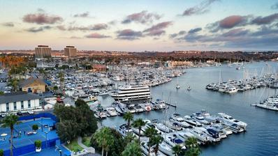 Výhled z hotelu Ritz v Los Angeles.