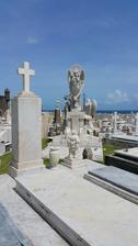 Hřbitov prvních španělských osídlenců ve městě San Juan.