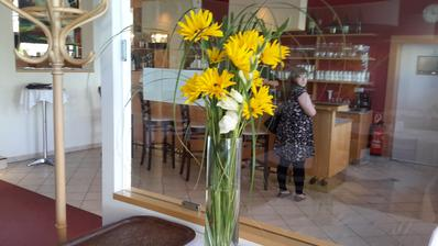 Konečně jsem se dočkala kvetoucí janeby.Považuji ji do vysokých vazeb za nejvděčnėjšíZatím stříhám jen jednotlivé květy,celé stvoly ještě nekvetou.