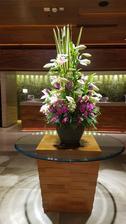 Z recepce hotelu Marco Polo v čínské metropli Hong Kong.