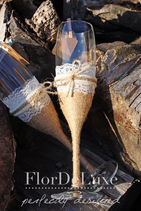 Naša malá letecká svadba ✈✈✈ <3 - Naše krásne svadobné poháre od Gabiky z FlorDeLuxe
