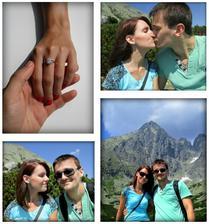 Naše romantické zásnuby v Tatrách pred dvoma rokmi <3