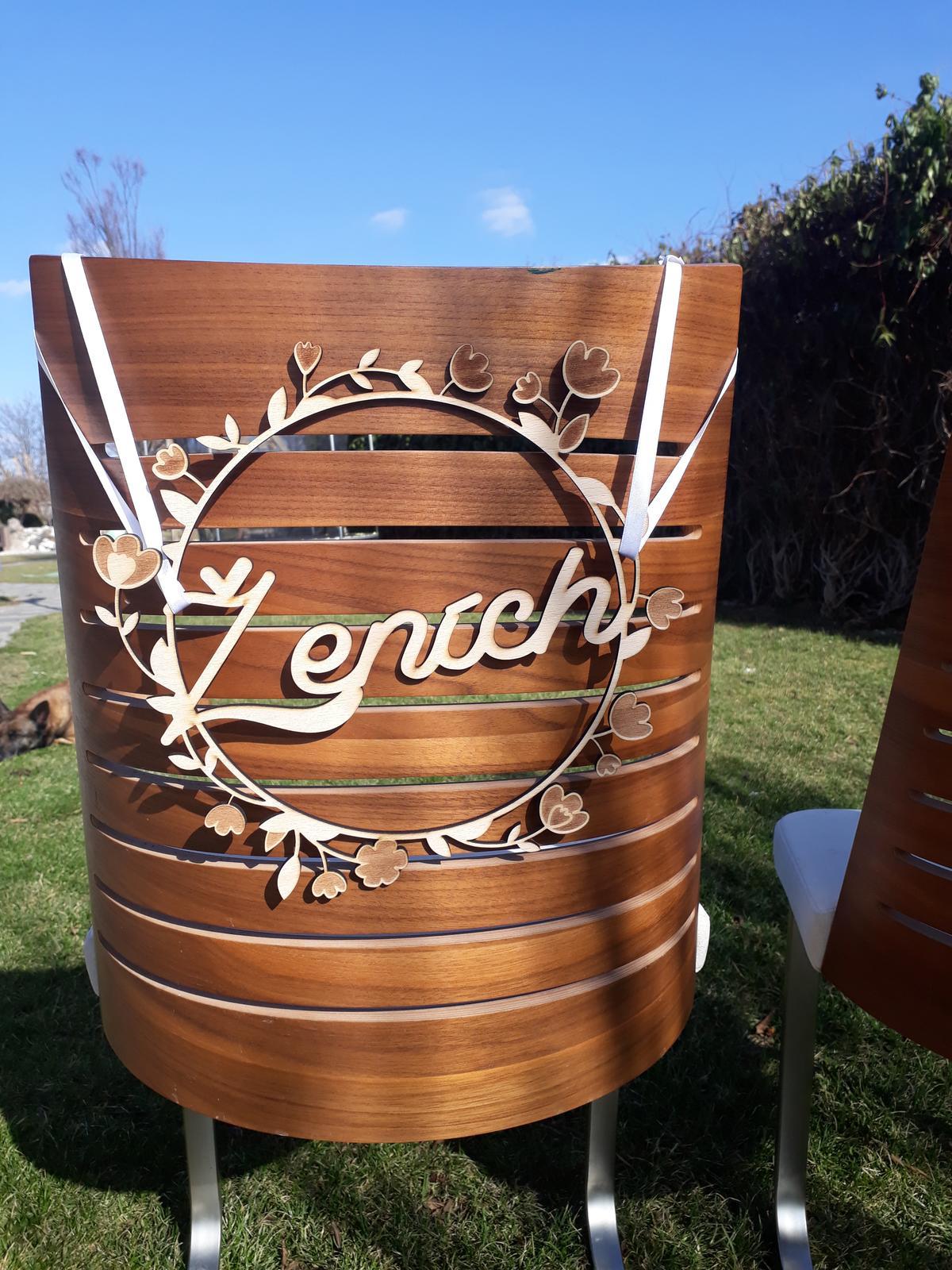 Vyrobíme pre vás nápisy na stoličky - Obrázok č. 9