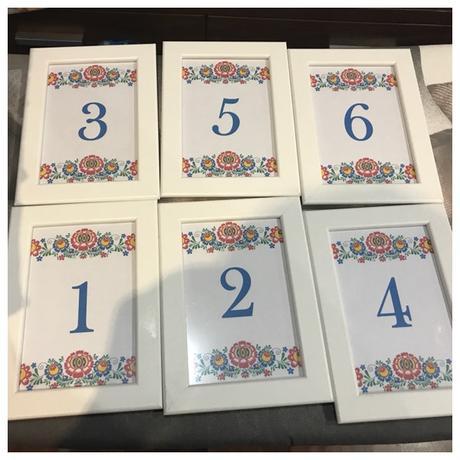 Číslovanie stolov - ľudové - prenájom - Obrázok č. 1