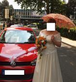 Svatební ručně vyšívané paraplíčko,