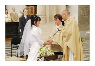 první manželská fotka :-) Co Bůh spojil, člověk nerozlučuj