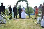 Jednoduchý svatební závoj,