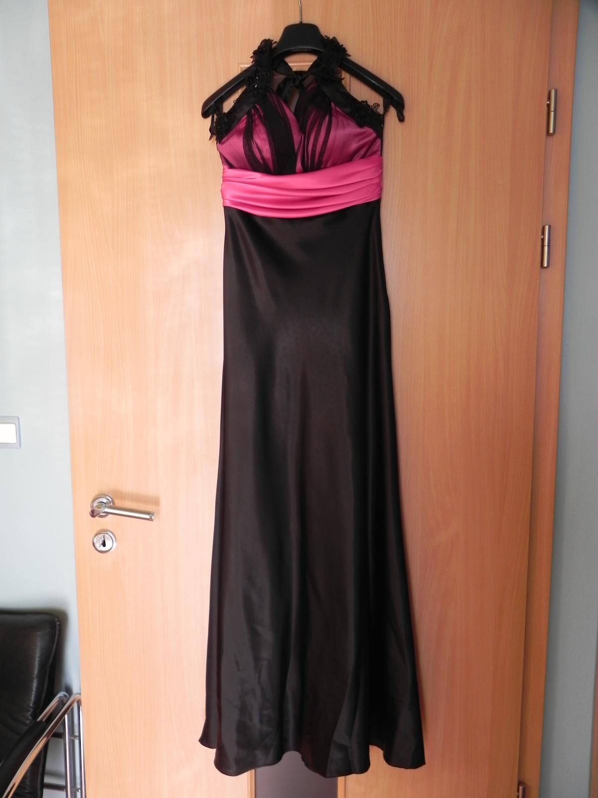 Čierno-ružové spoločenské šaty - Obrázok č. 4