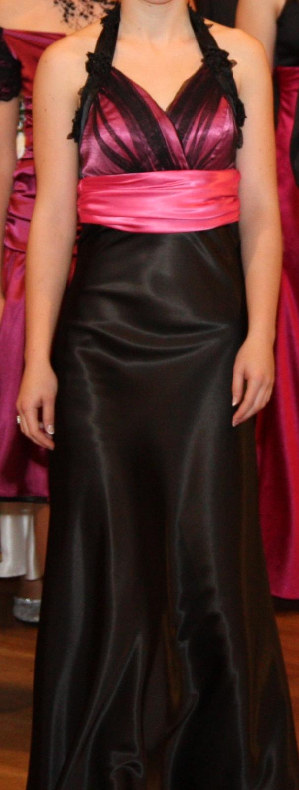 Čierno-ružové spoločenské šaty - Obrázok č. 1