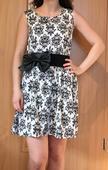 čierno-biele šifónové šaty, 34