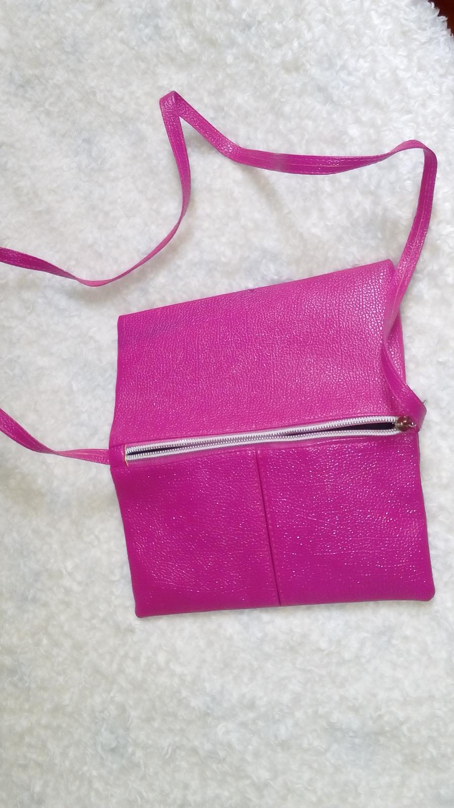 Ružová kabelka nenosená - Obrázok č. 2