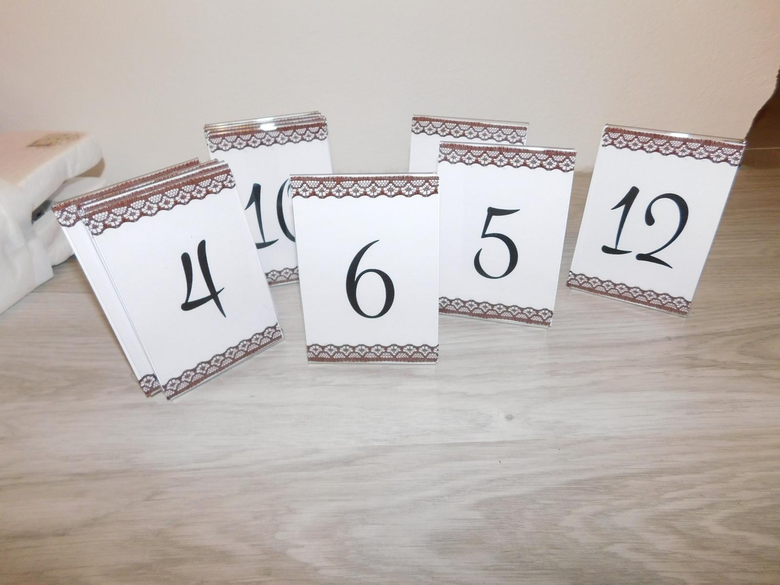 označenie stolov 2 druhy - Obrázok č. 1