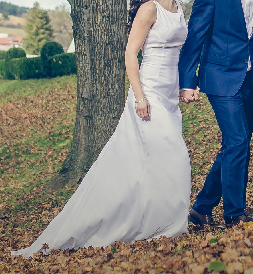 Svadobné šaty, jednoduché - Obrázok č. 2