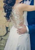 Svadobné šaty, jednoduché, 34