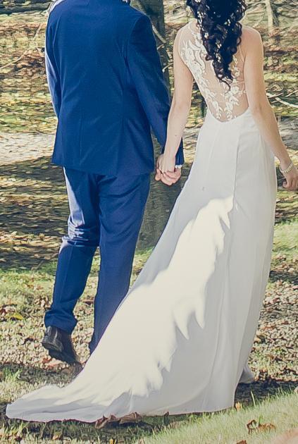 Svadobné šaty, jednoduché - Obrázok č. 4