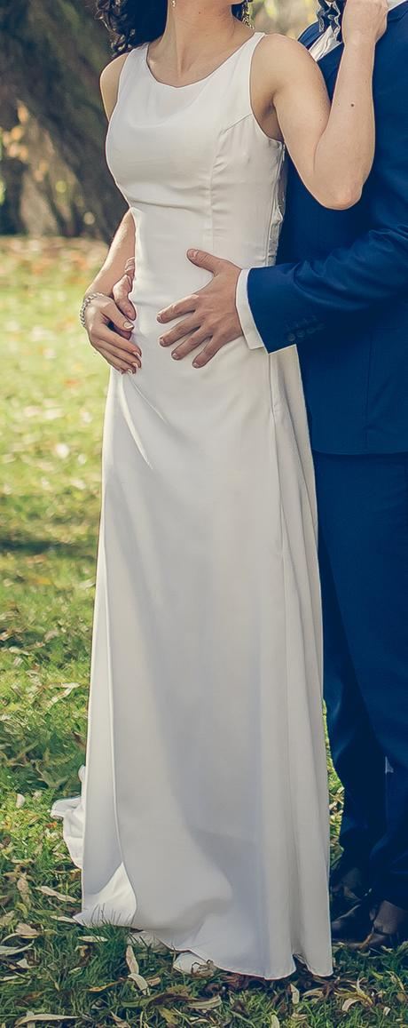 Svadobné šaty, jednoduché - Obrázok č. 3