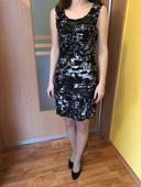 Čierno-šedé puzdrové šaty, 34